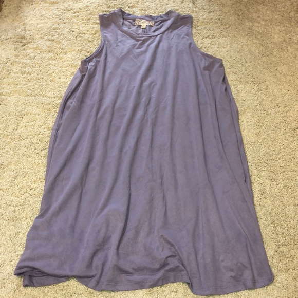 Pink Republic Dresses & Skirts - Purple suede texture high neck sheath dress